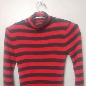 Red and Black Turtle neck sweater